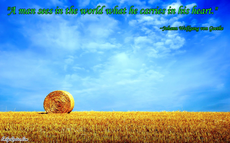 EmilysQuotes.Com - Johann Wolfgang von Goethe, world, heart, wisdom, experience, intelligence