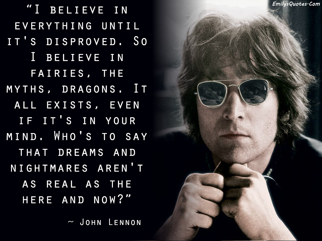 EmilysQuotes.Com - amazing, great, faith, dreams, real,  John Lennon