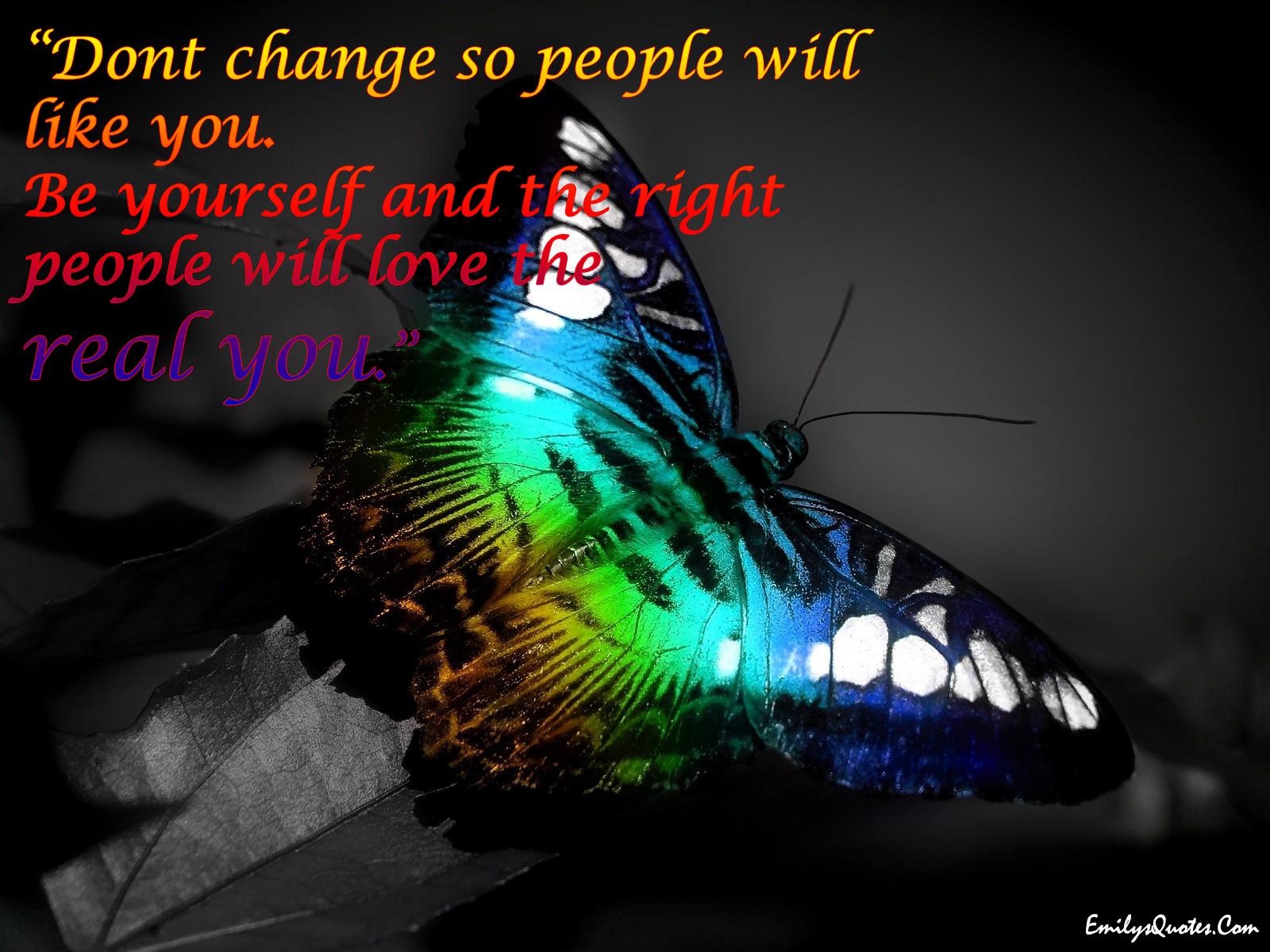 EmilysQuotes.Com - change, true, be yourself