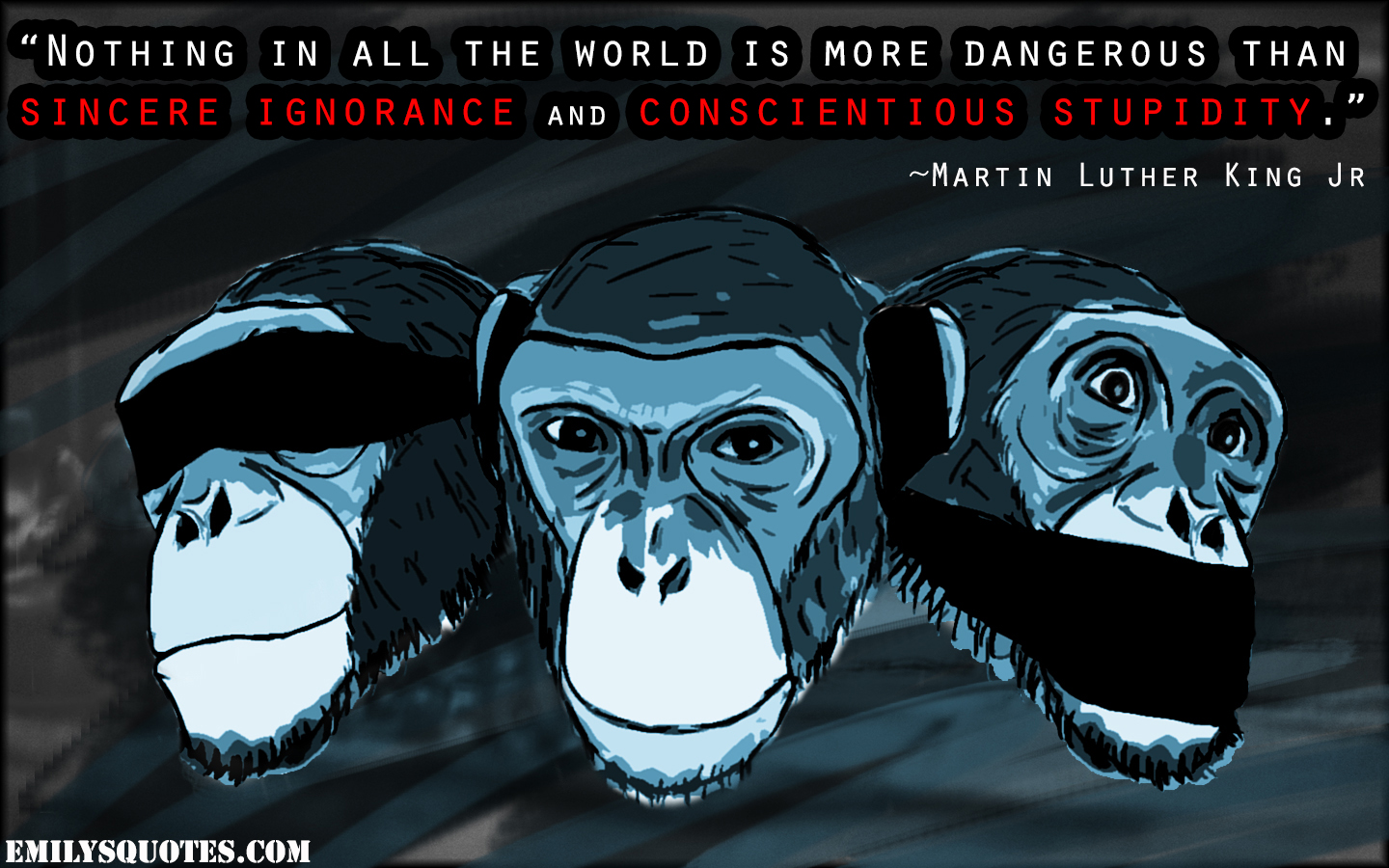 EmilysQuotes.Com - danger, ignorance, stupidity, wisdom, Martin Luther King Jr
