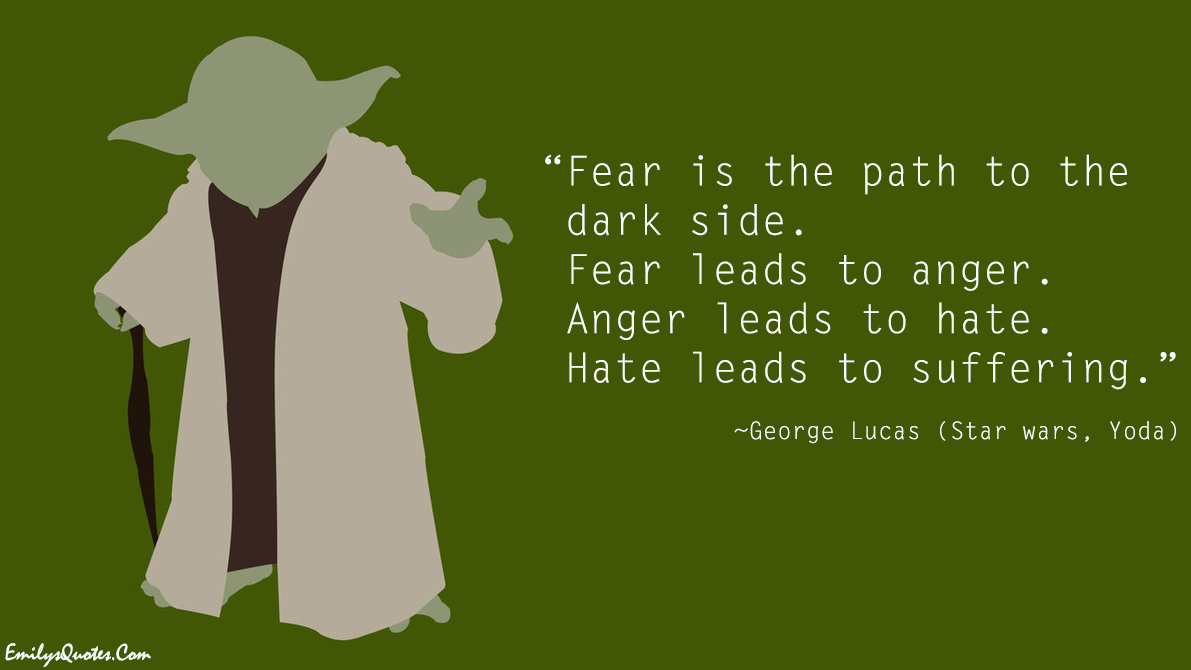 EmilysQuotes.Com - fear, anger, hate, suffering, wisdom, consequences, George Lucas, yoda
