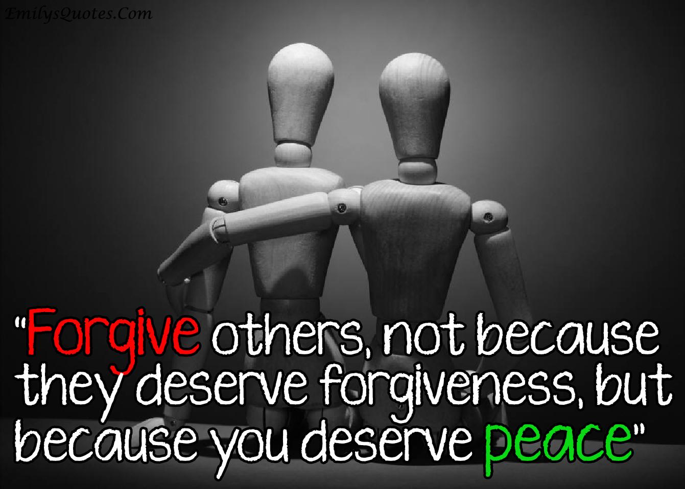 EmilysQuotes.Com - forgive, peace, wisdom, positive