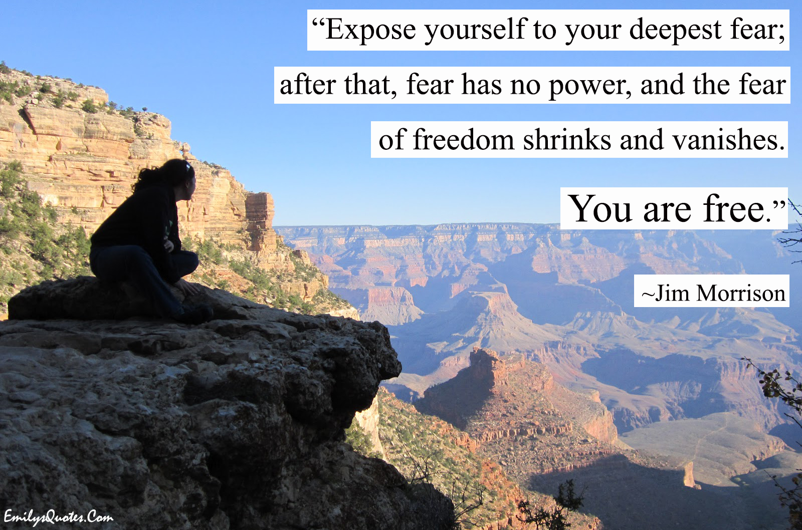 EmilysQuotes.Com - freedom, fear, wisdom, inspirational, courage, Jim Morrison