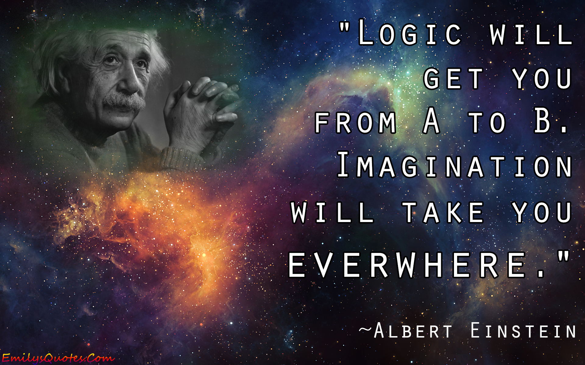 EmilysQuotes.Com - imagination, logic, amazing, inspirational, intelligence, Albert Einstein
