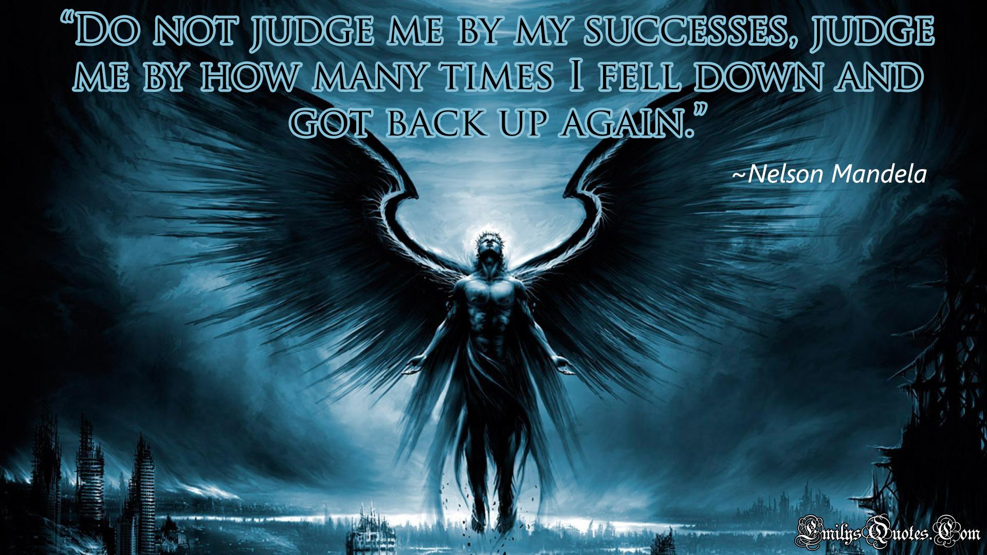 EmilysQuotes.Com - judge, wisdom, Nelson Mandela, success