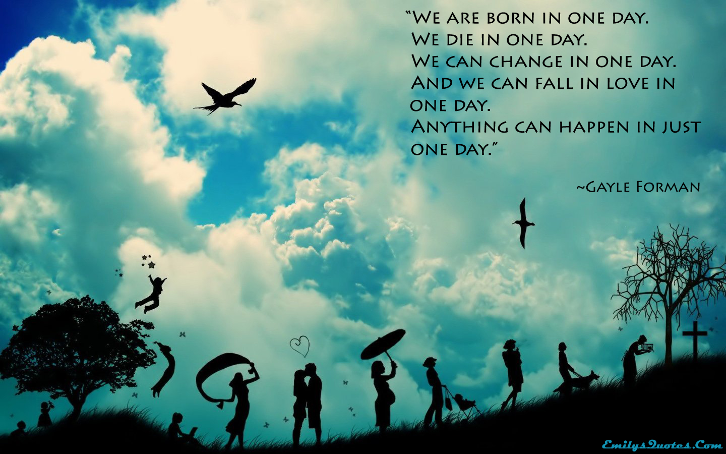 Great Quotes About Life And Death We Are Born In One Daywe Die In One Daywe Can Change In One