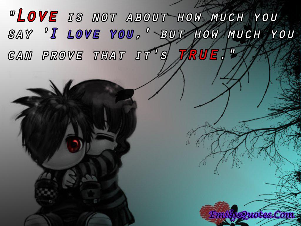Prove that i can love u
