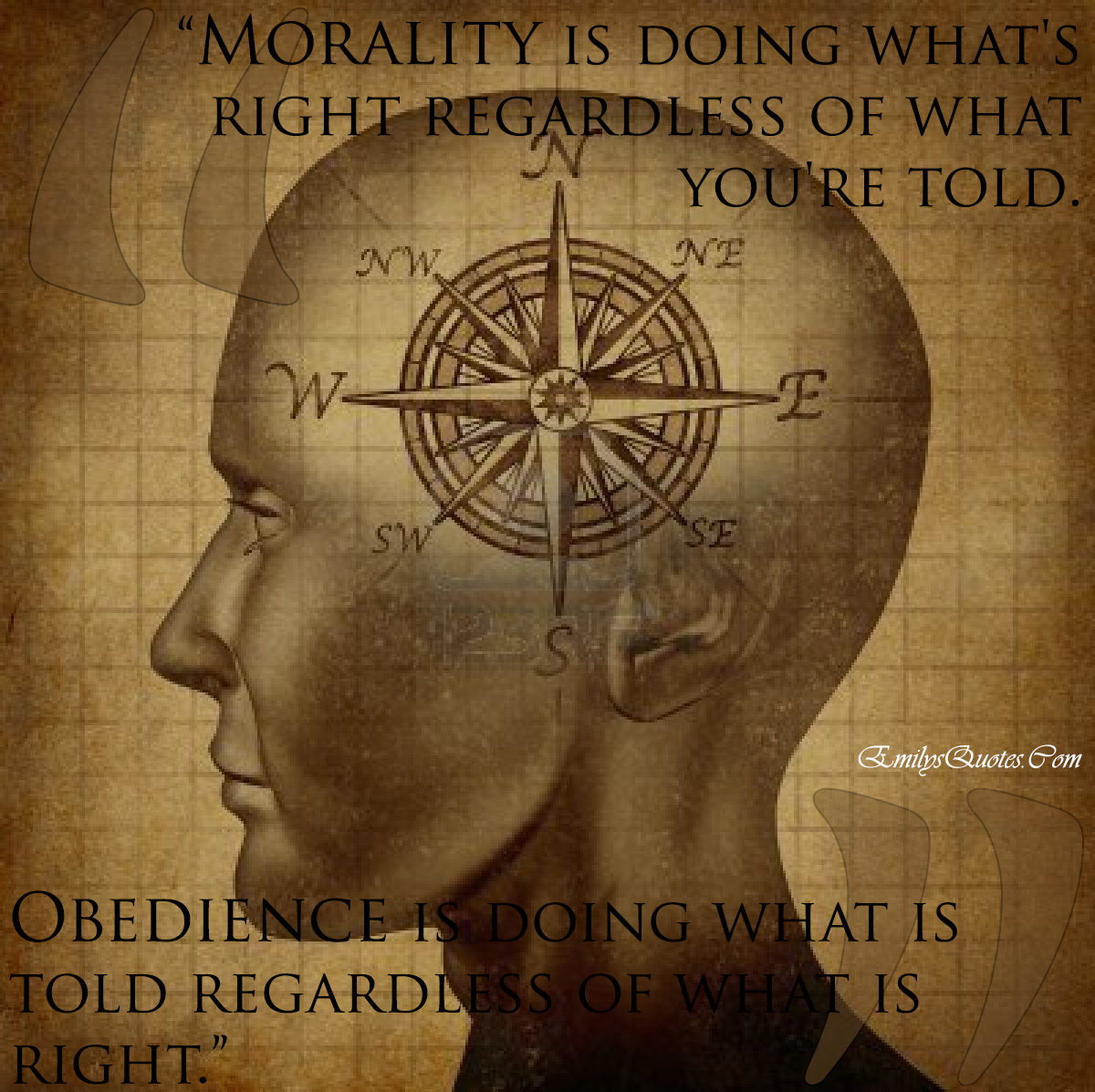 EmilysQuotes.Com - morality, obedience, right, choice, intelligence