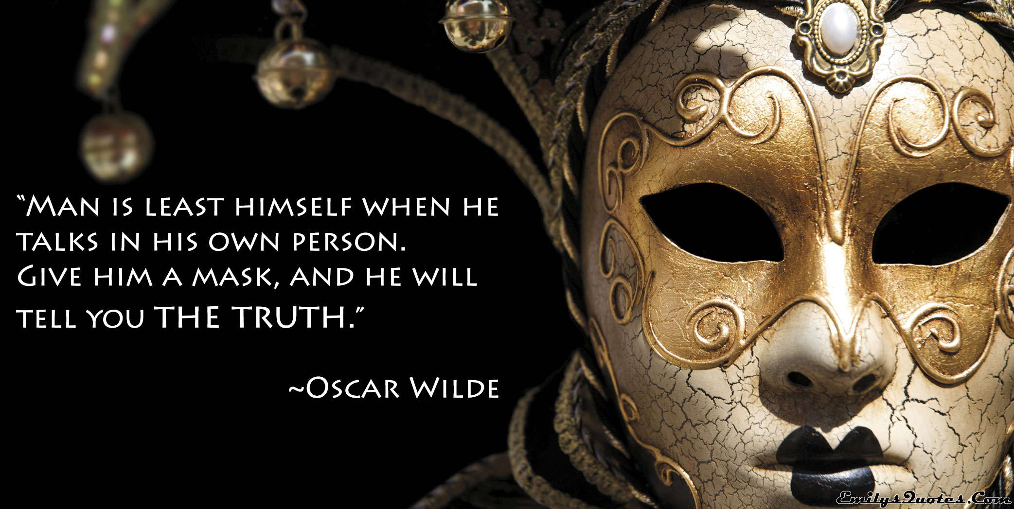 EmilysQuotes.Com - truth,  Oscar Wilde, mask
