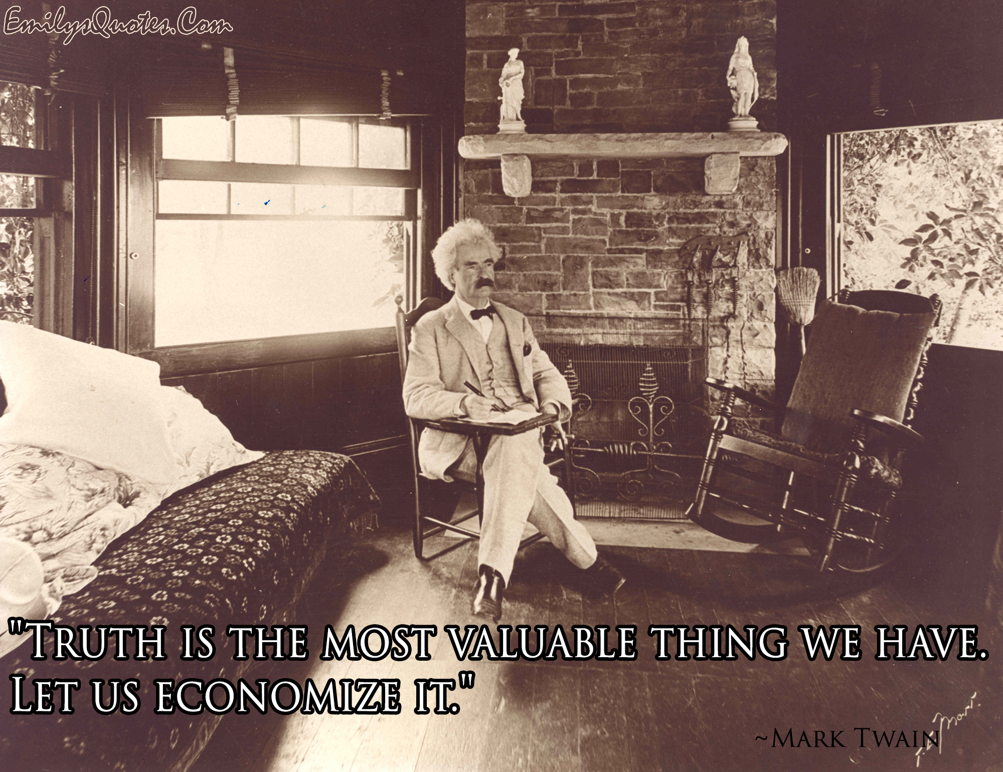 EmilysQuotes.Com - truth, intelligence, Mark Twain