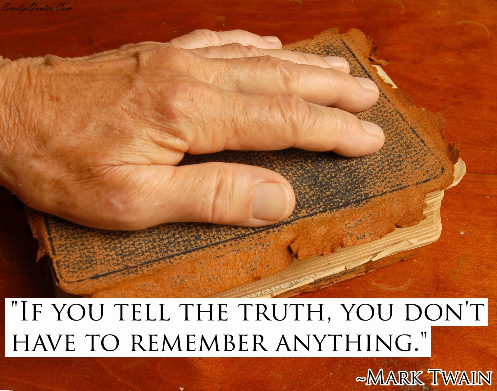 EmilysQuotes.Com - truth, remember, Mark Twain