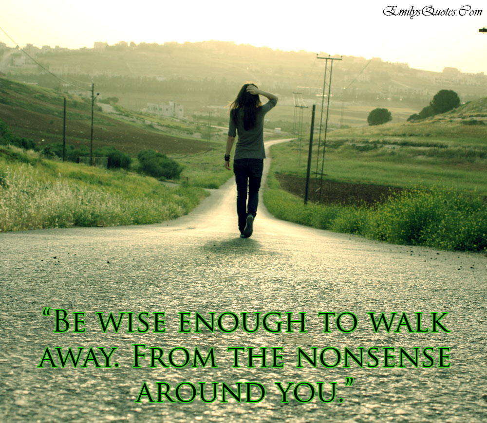 EmilysQuotes.Com - walk away, wise, nonsense, moving on, intelligence