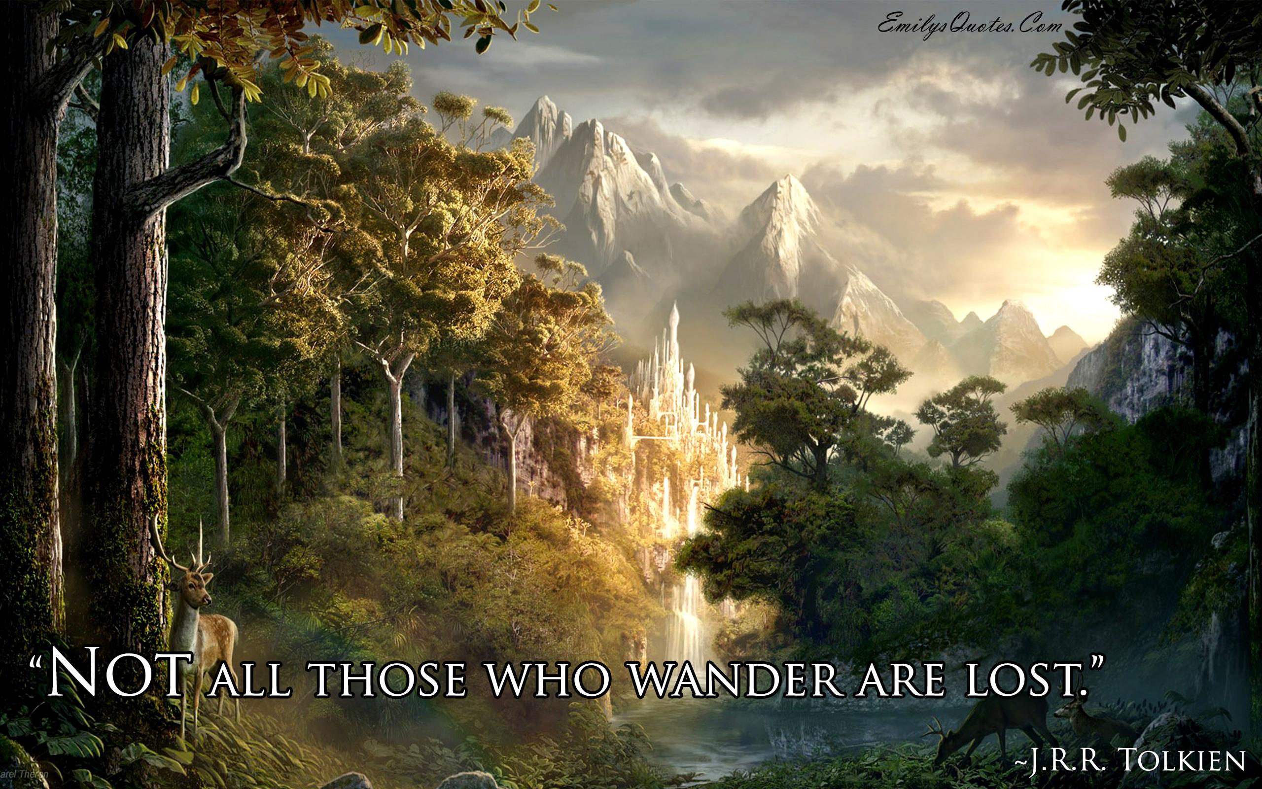EmilysQuotes.Com - wisdom, Intelligence, wander, travel,  J.R.R. Tolkien