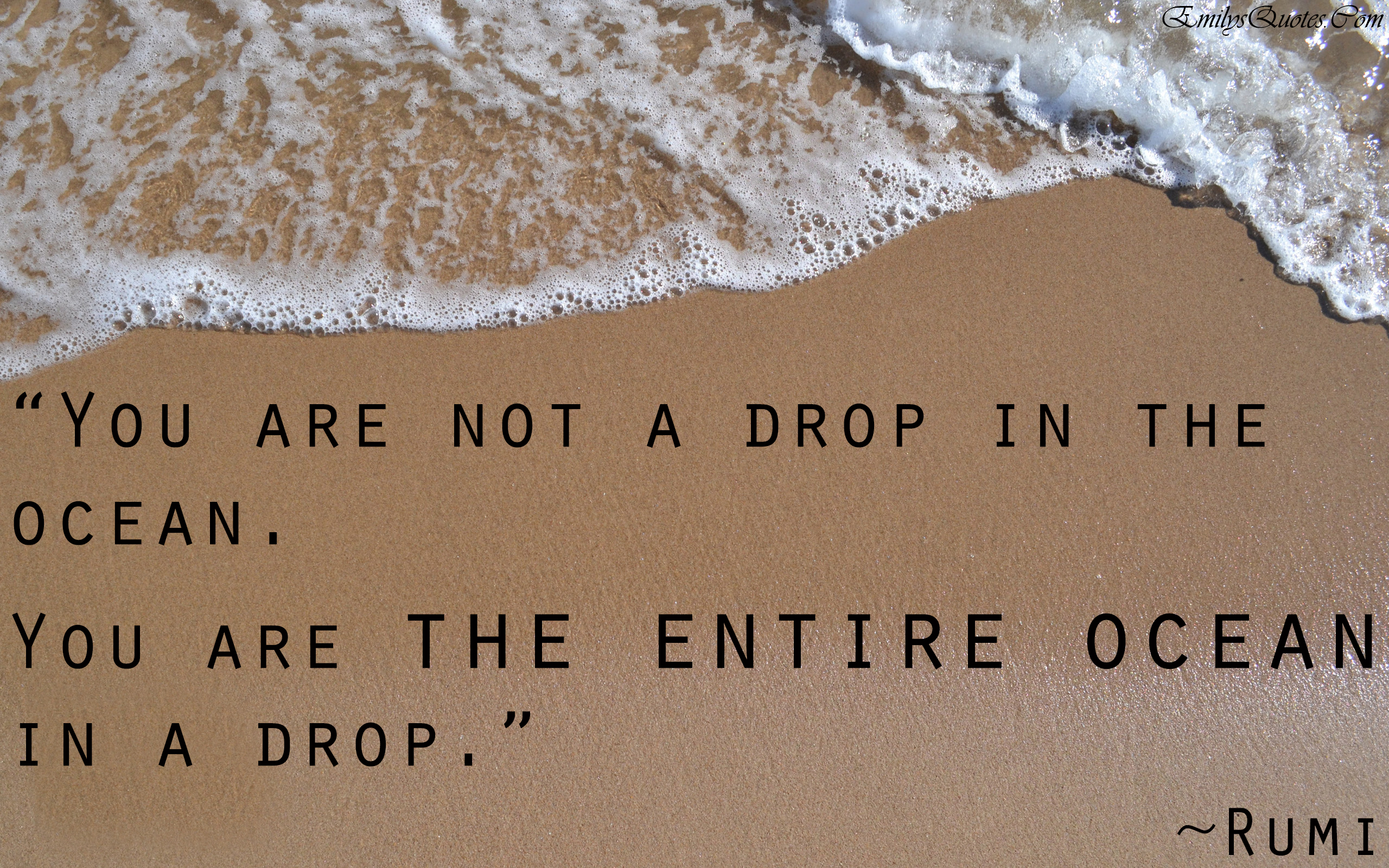 Amazing Quotes You Are Not A Drop In The Oceanyou Are The Entire Ocean In A