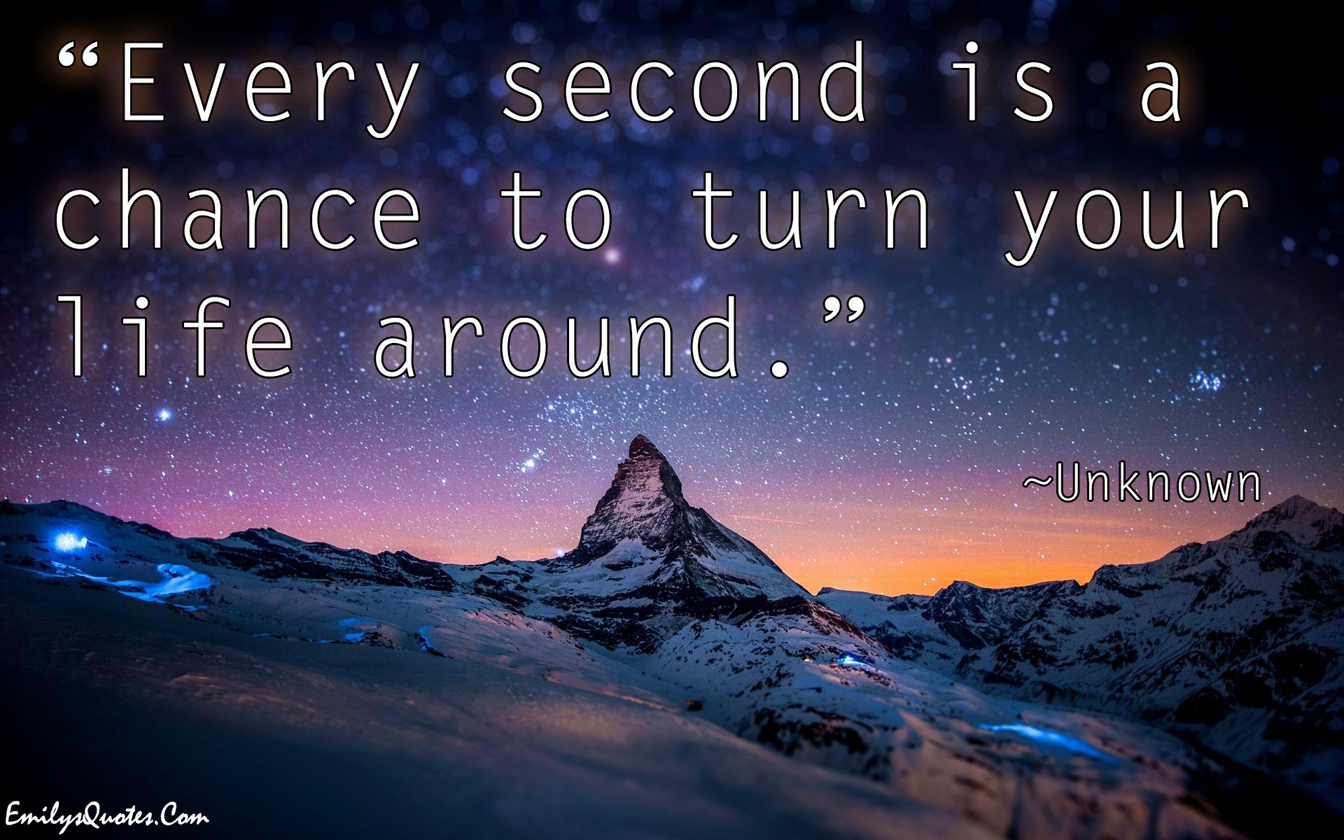 Life Quotes Com Every Second Is A Chance To Turn Your Life Around  Popular