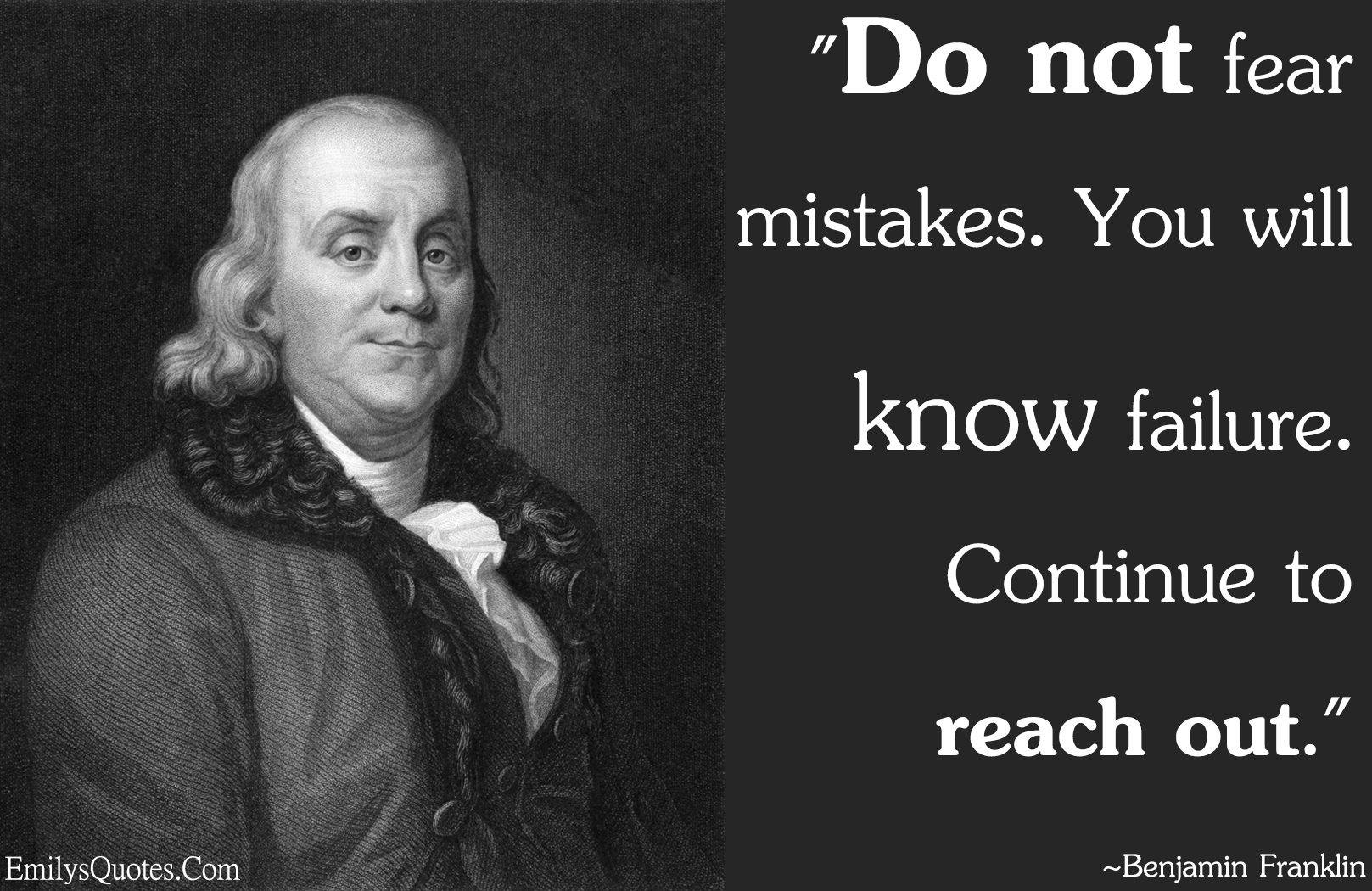 EmilysQuotes.Com - fear, mistake, failure, encouraging, Benjamin Franklin, experience, intelligence