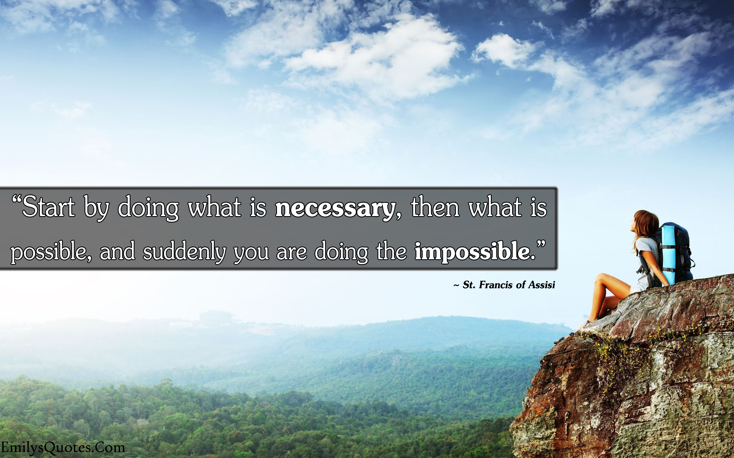 EmilysQuotes.Com - necessary, possible, impossible,  St. Francis of Assisi, inspirational