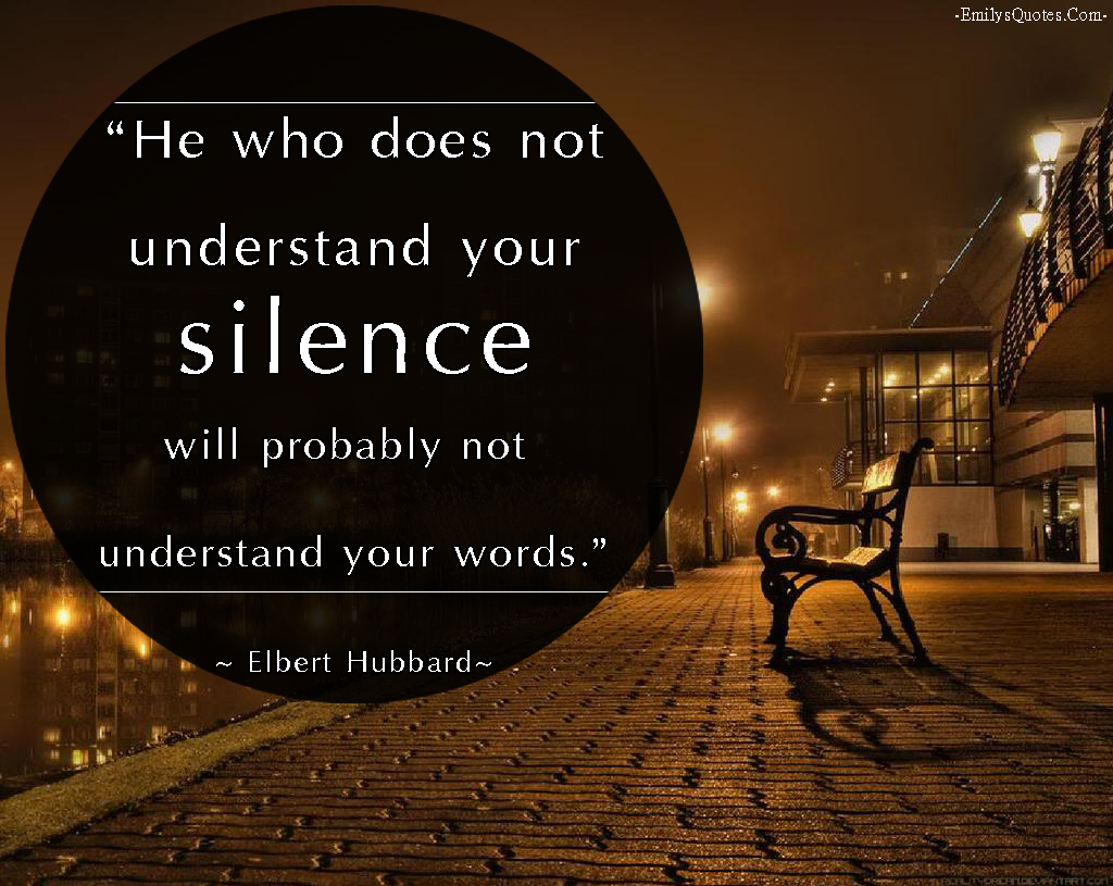 quotes on being silent in a relationship