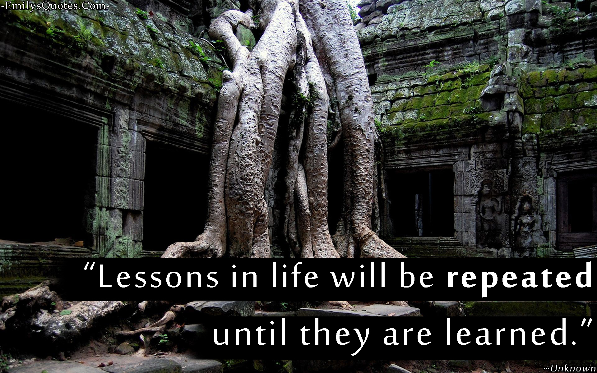 Lesson In Life Quote New Lessons In Life Will Be Repeated Until They Are Learned  Popular