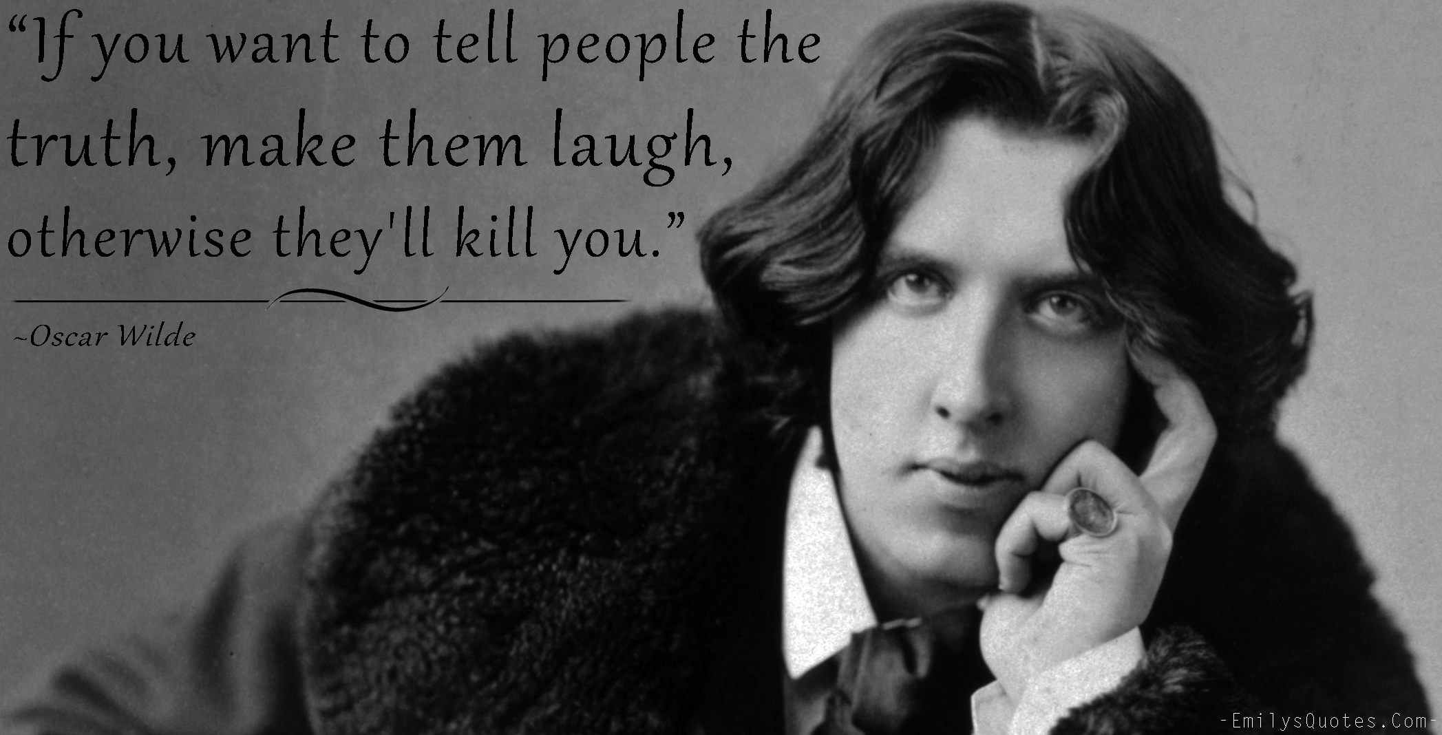 EmilysQuotes.Com - people, truth, funny, hate, communication,  Oscar Wilde