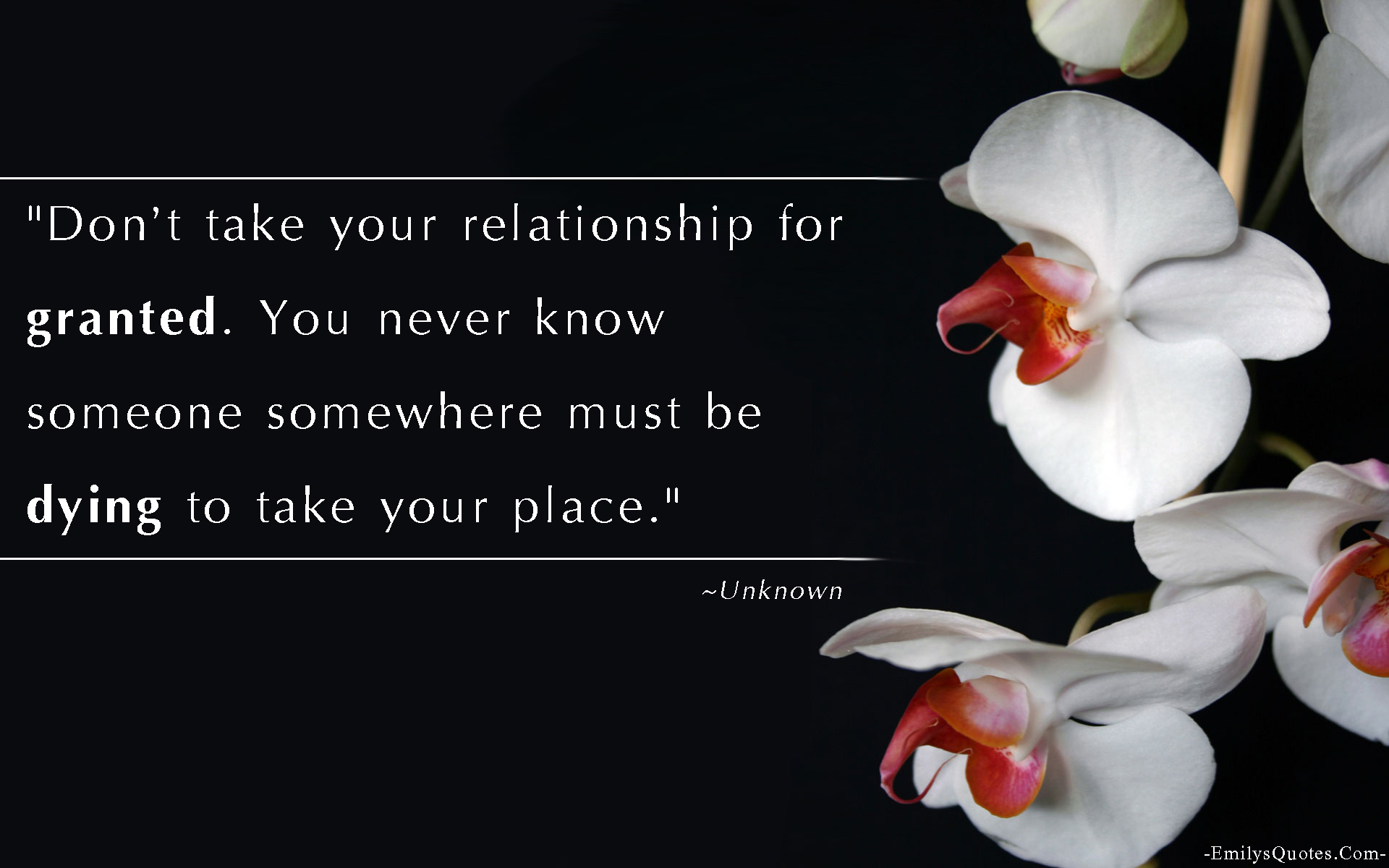 EmilysQuotes.Com - relationship, granted, sad, respect, understanding, unknown