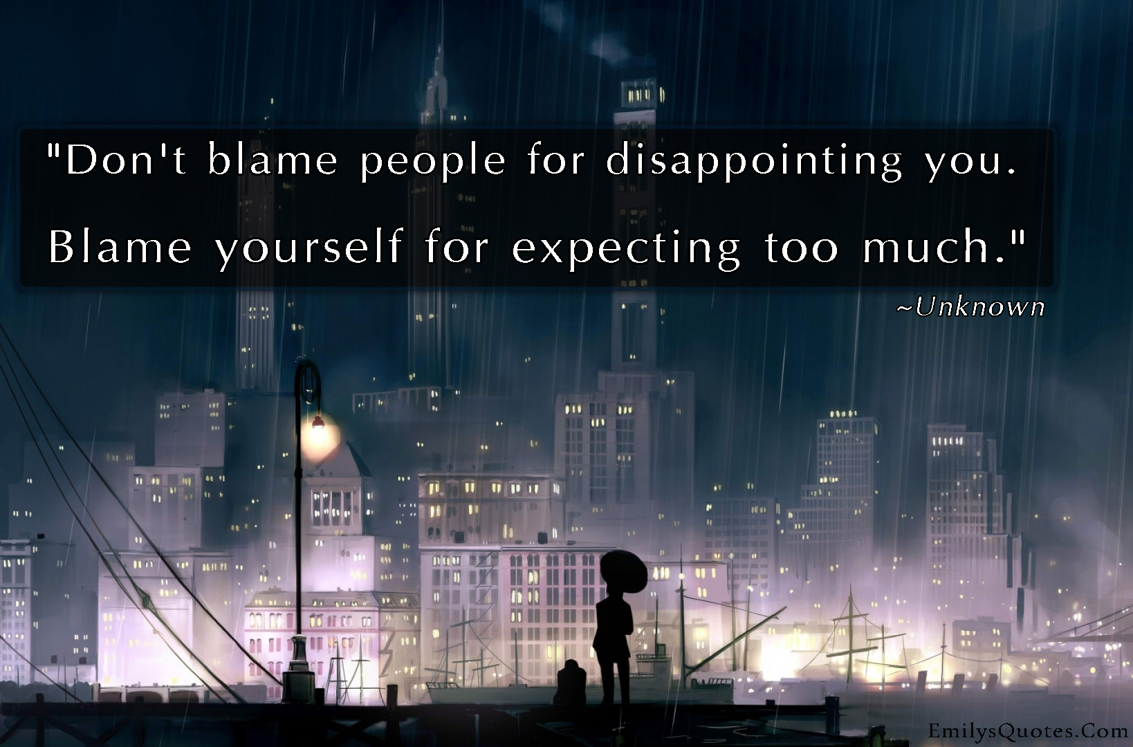 EmilysQuotes.Com - unknown, disappointment, people, blame, sad, mistakes