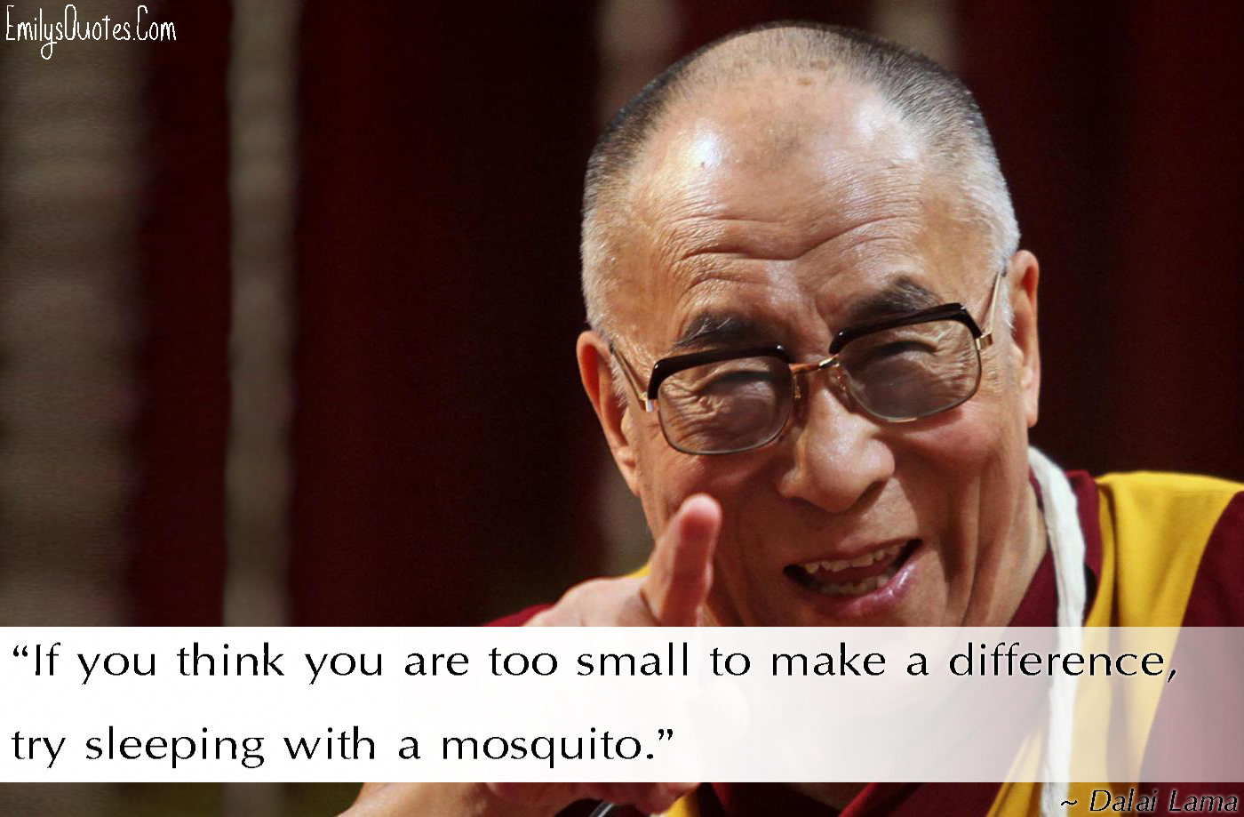 EmilysQuotes.Com -  Dalai Lama. funny, difference, encouraging, wisdom