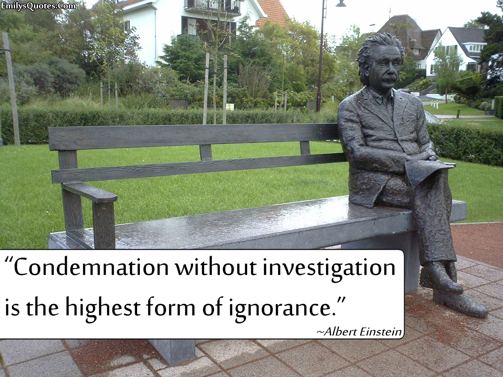 EmilysQuotes.Com - condemnation, investigation, ignorance, intelligence, Albert Einstein