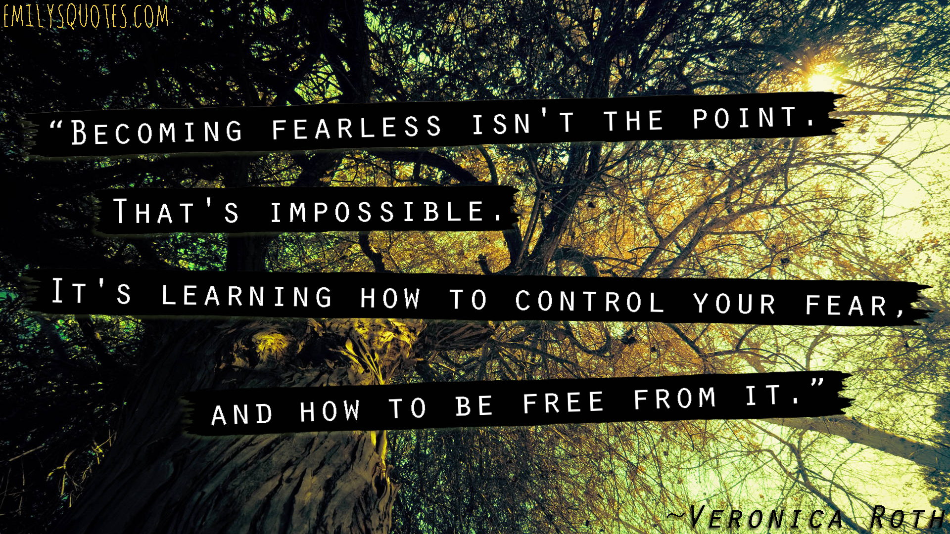 EmilysQuotes.Com - fearless, learning, control fear, freedom, isnpirational,  Veronica Roth