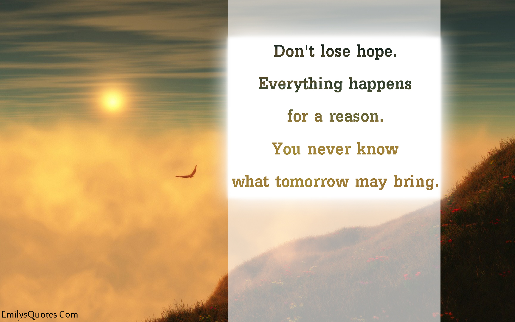 EmilysQuotes.Com - hope, reason, future, inspirational, positive, unknown