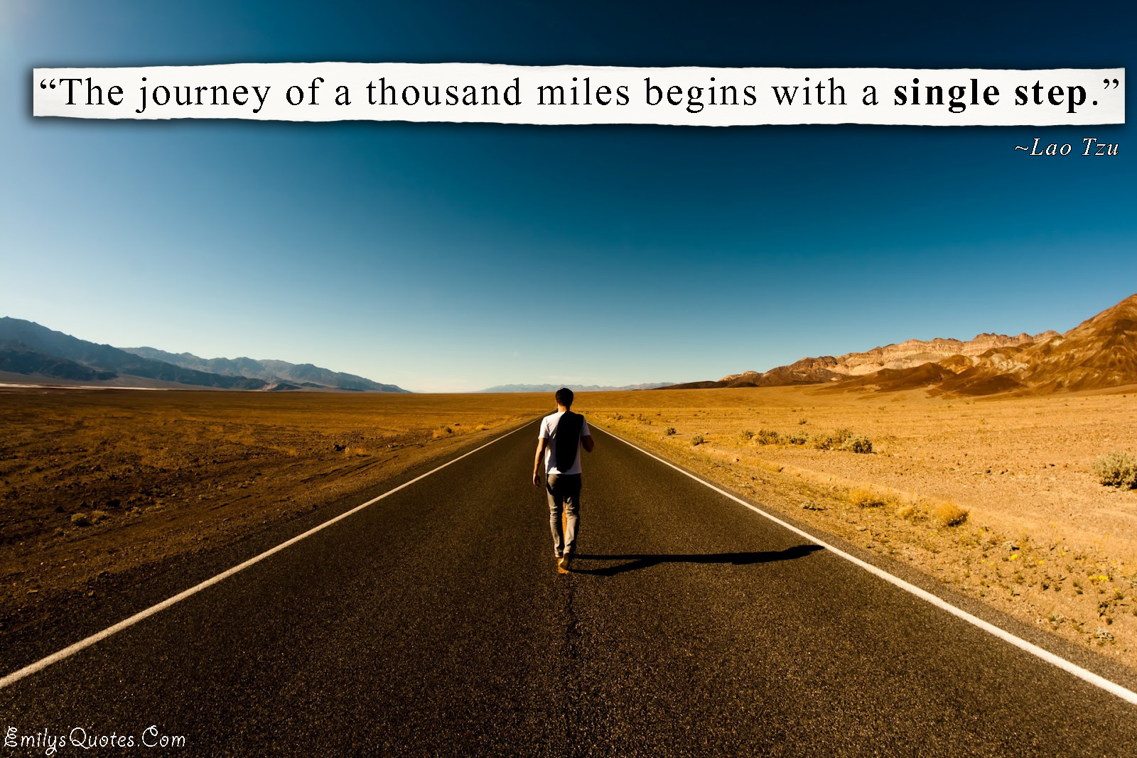 EmilysQuotes.Com - journey, travel, single step, inspirational, amazing, great, decision, Lao Tzu