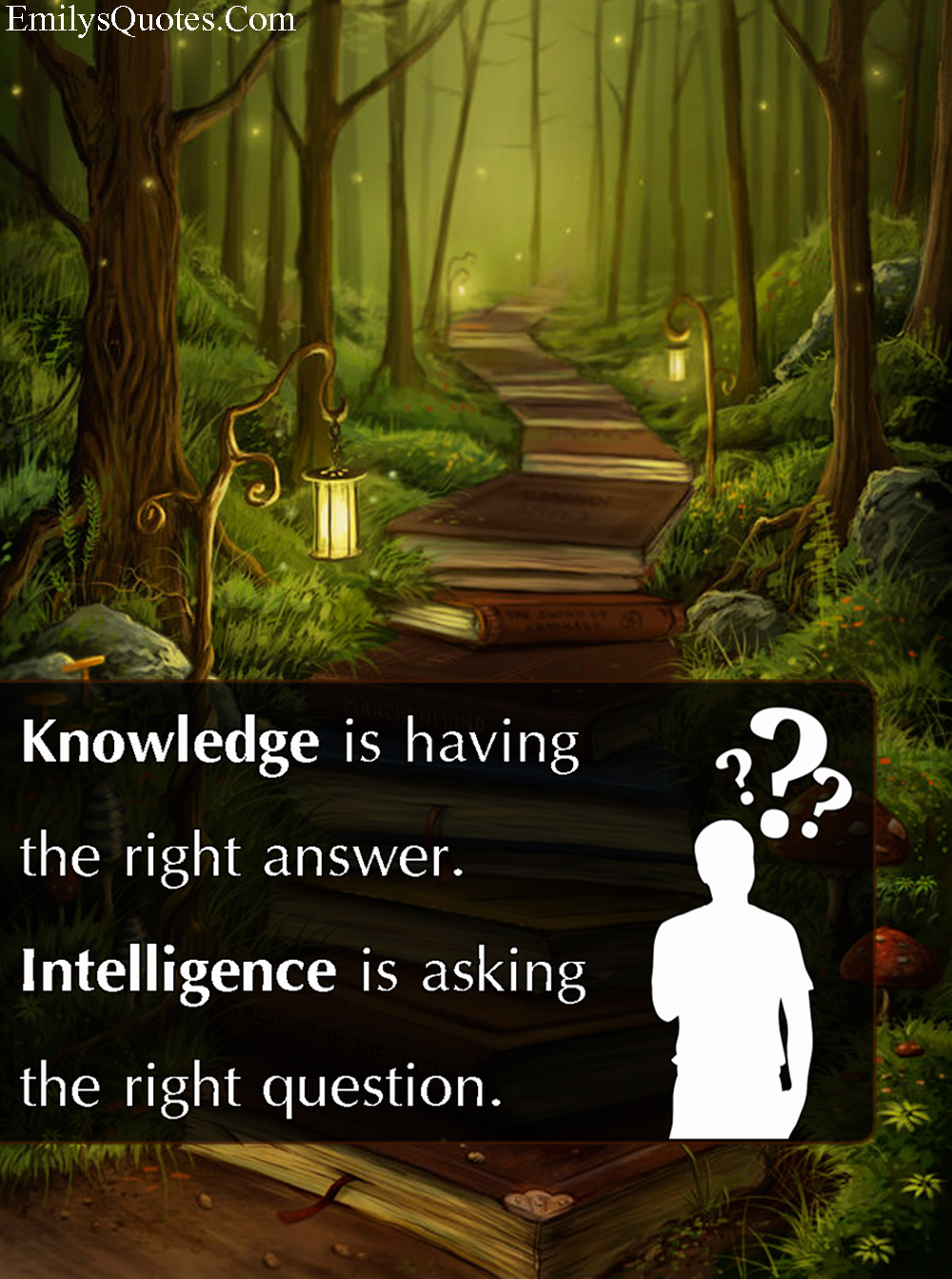 EmilysQuotes.Com - knowledge, answer, intelligence, question, unknwon, difference