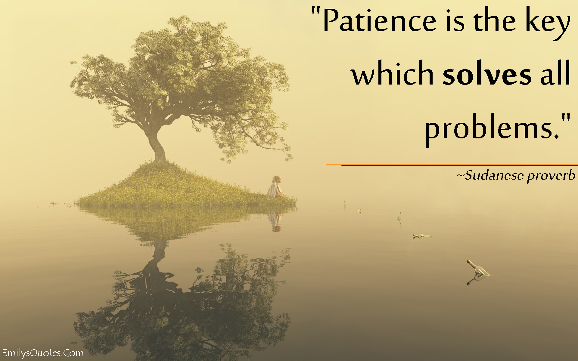 Inspirational Proverbs Patience Is The Key Which Solves All Problems  Popular