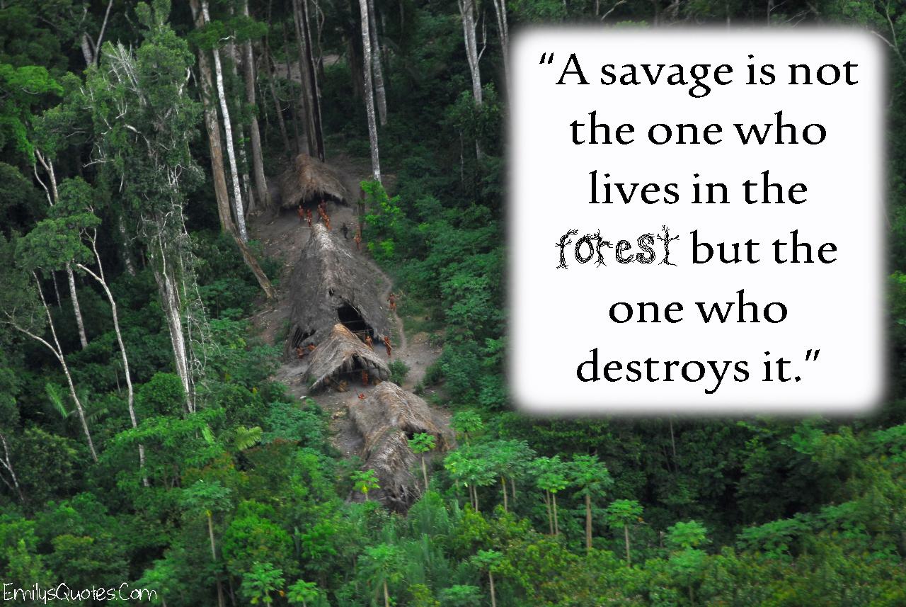 EmilysQuotes.Com - savage, forest, nature, destruction, relationship, unknown