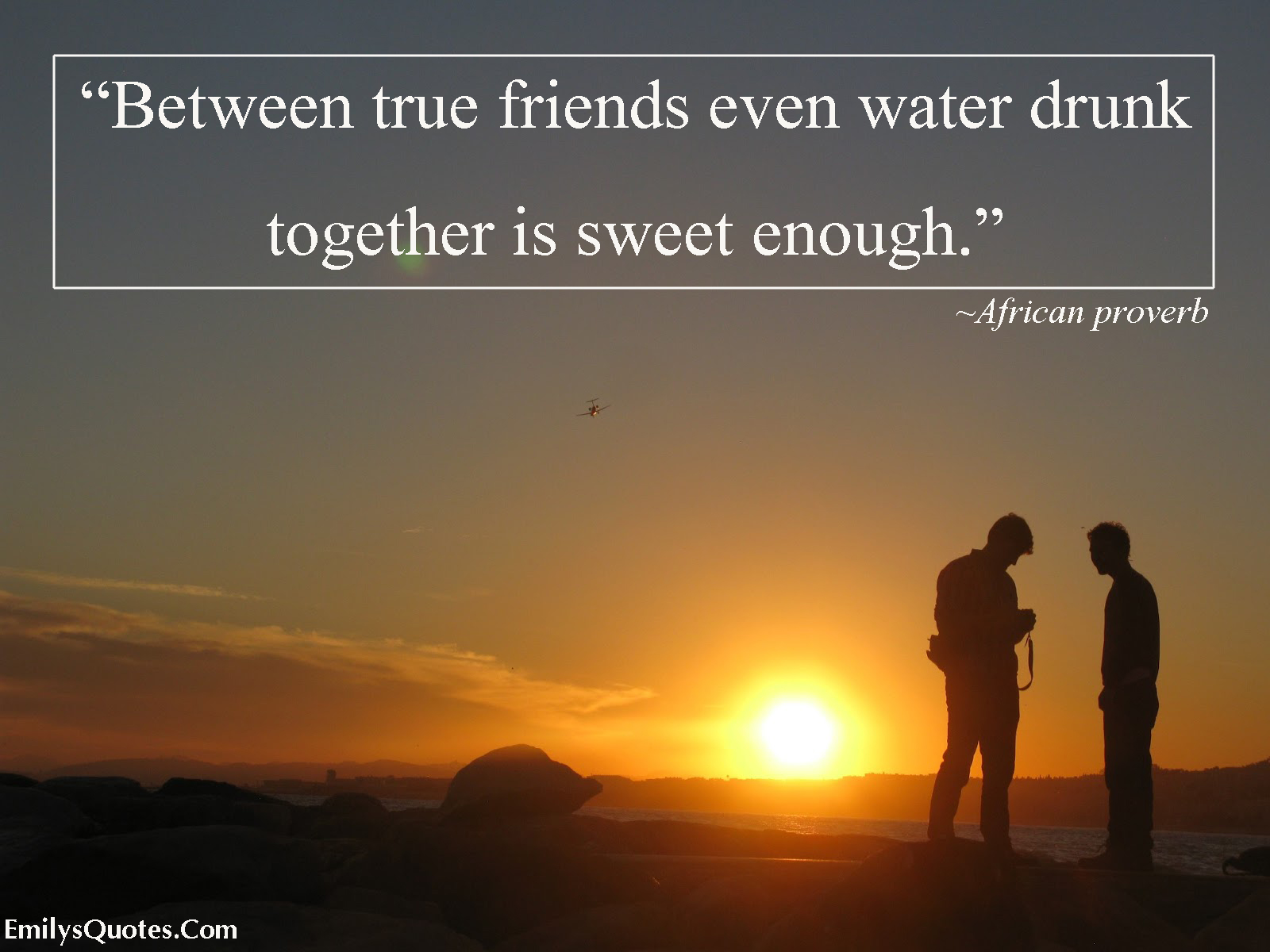 EmilysQuotes.Com - true friends, water drunk, being together, African proverb