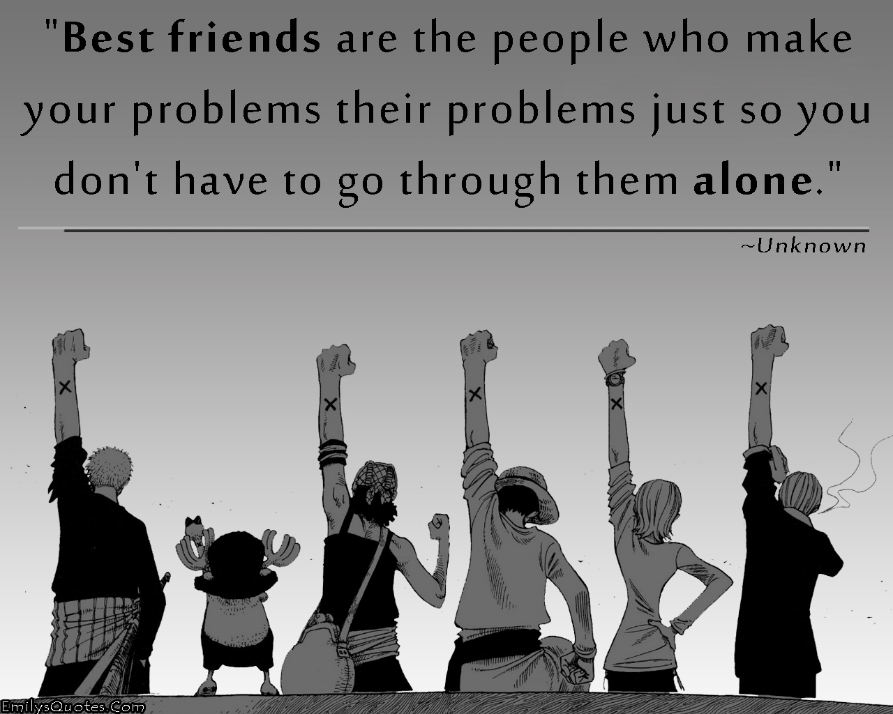 EmilysQuotes.Com - unknown, friendship, people, problems, alone, inspirational. great