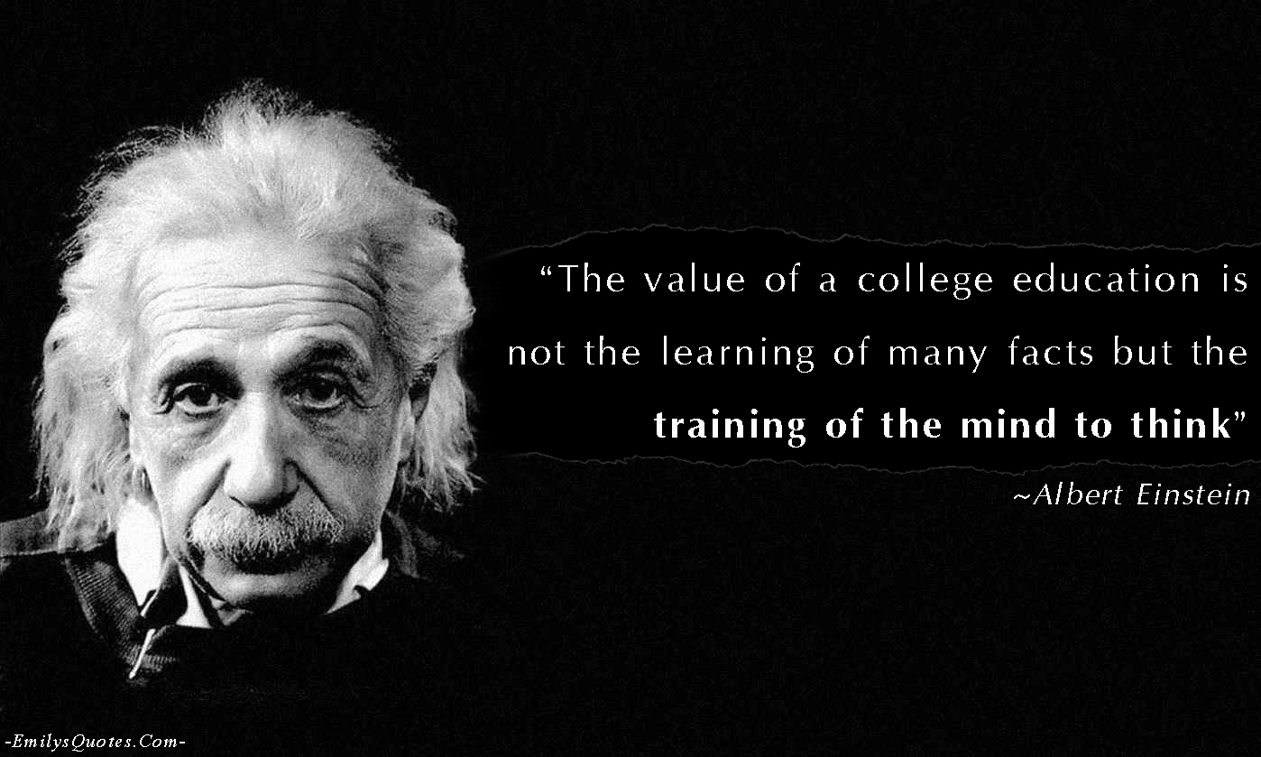 EmilysQuotes.Com - value, education, learning, facts, training, mind, thinking, Albert Einstein, wisdom, intelligence, reason