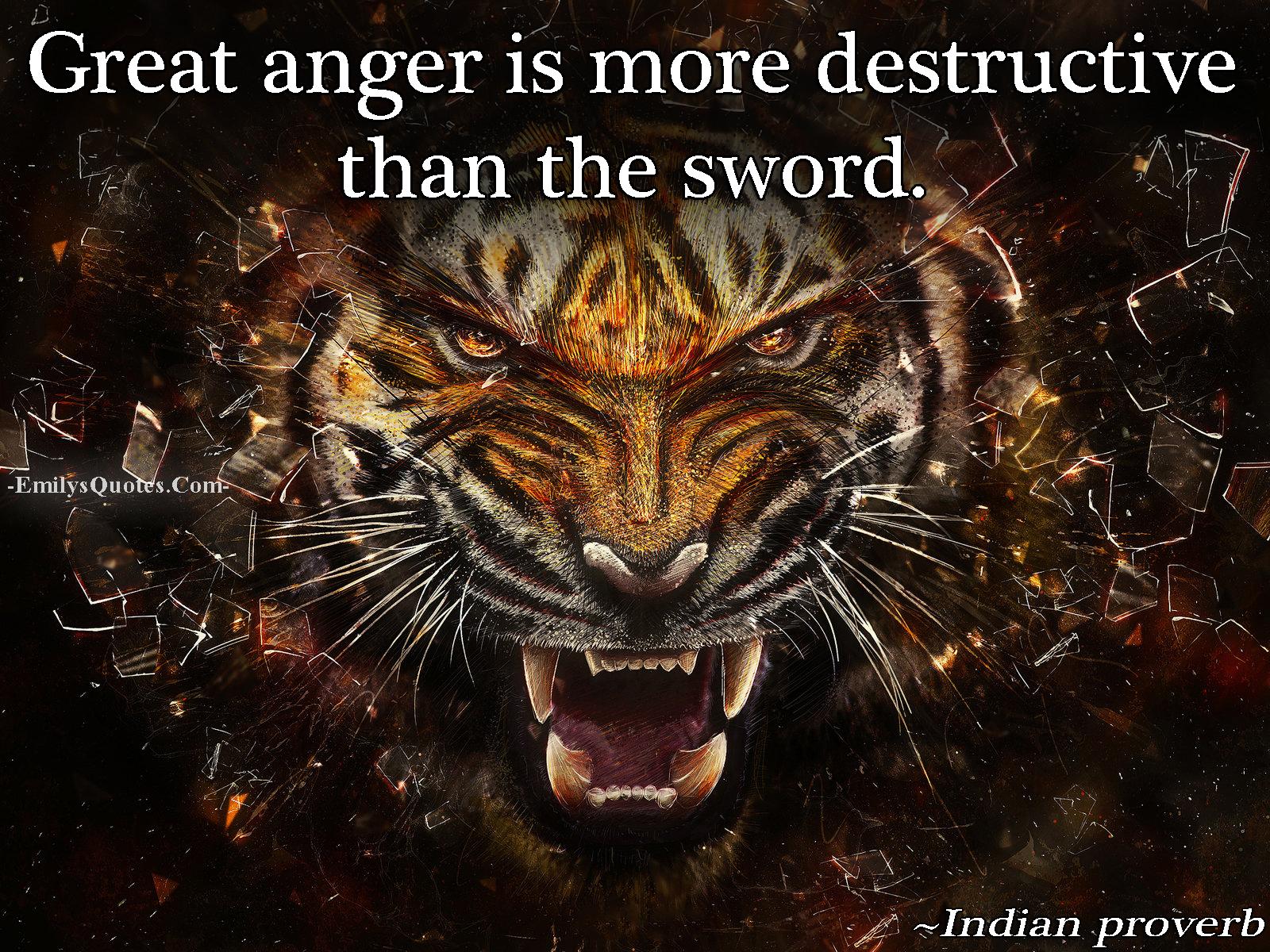 EmilysQuotes.Com - anger, destruction, negative, hate, Indian proverb