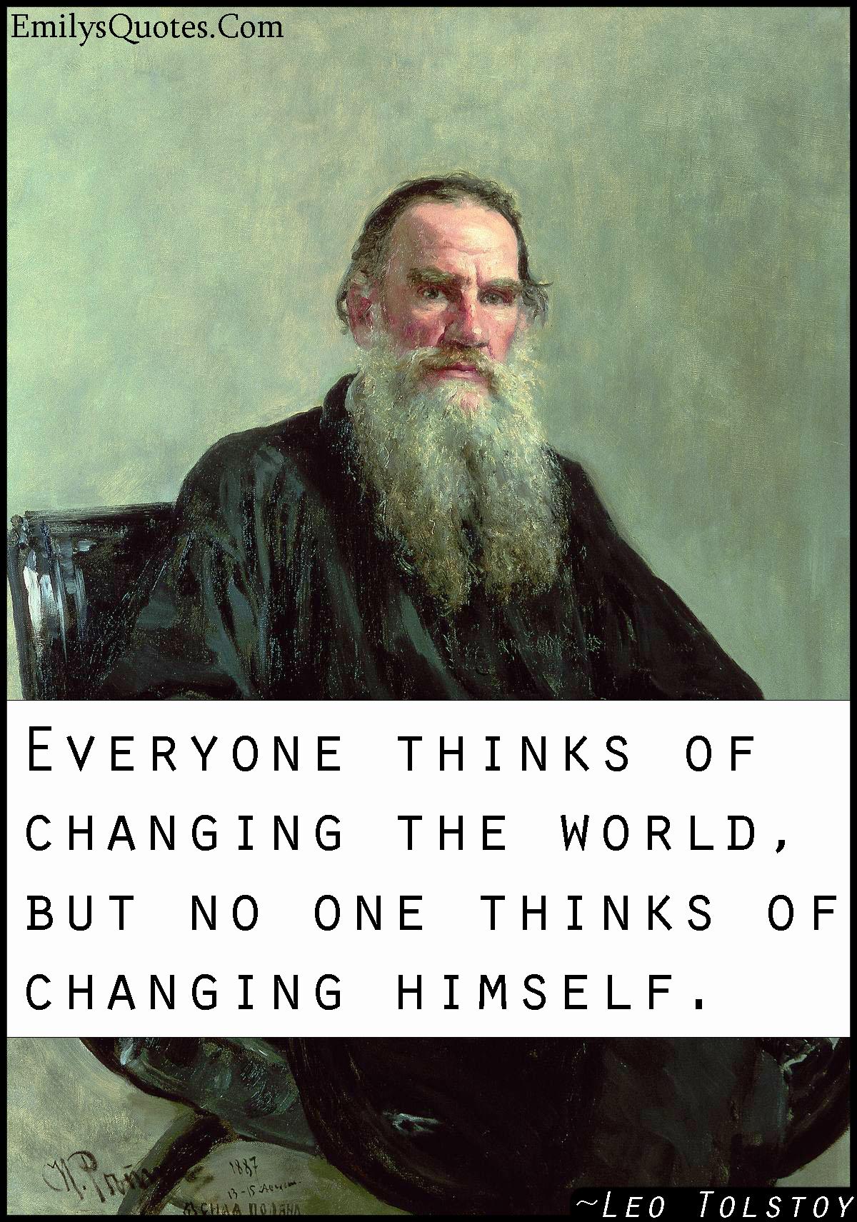 EmilysQuotes.Com - change, world, wisdom, Intelligent, Leo Tolstoy