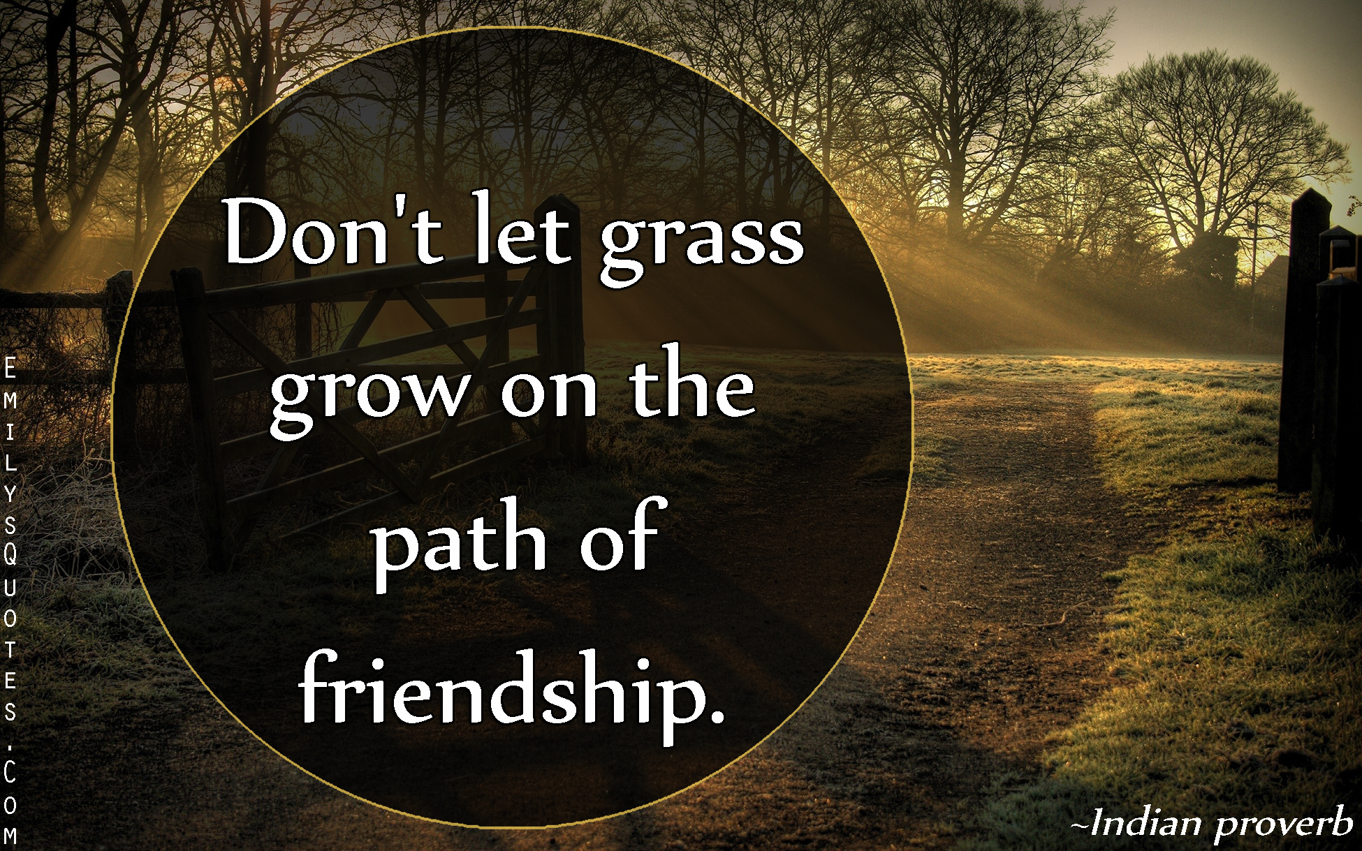 Popular Quotes About Friendship Don't Let Grass Grow On The Path Of Friendship  Popular