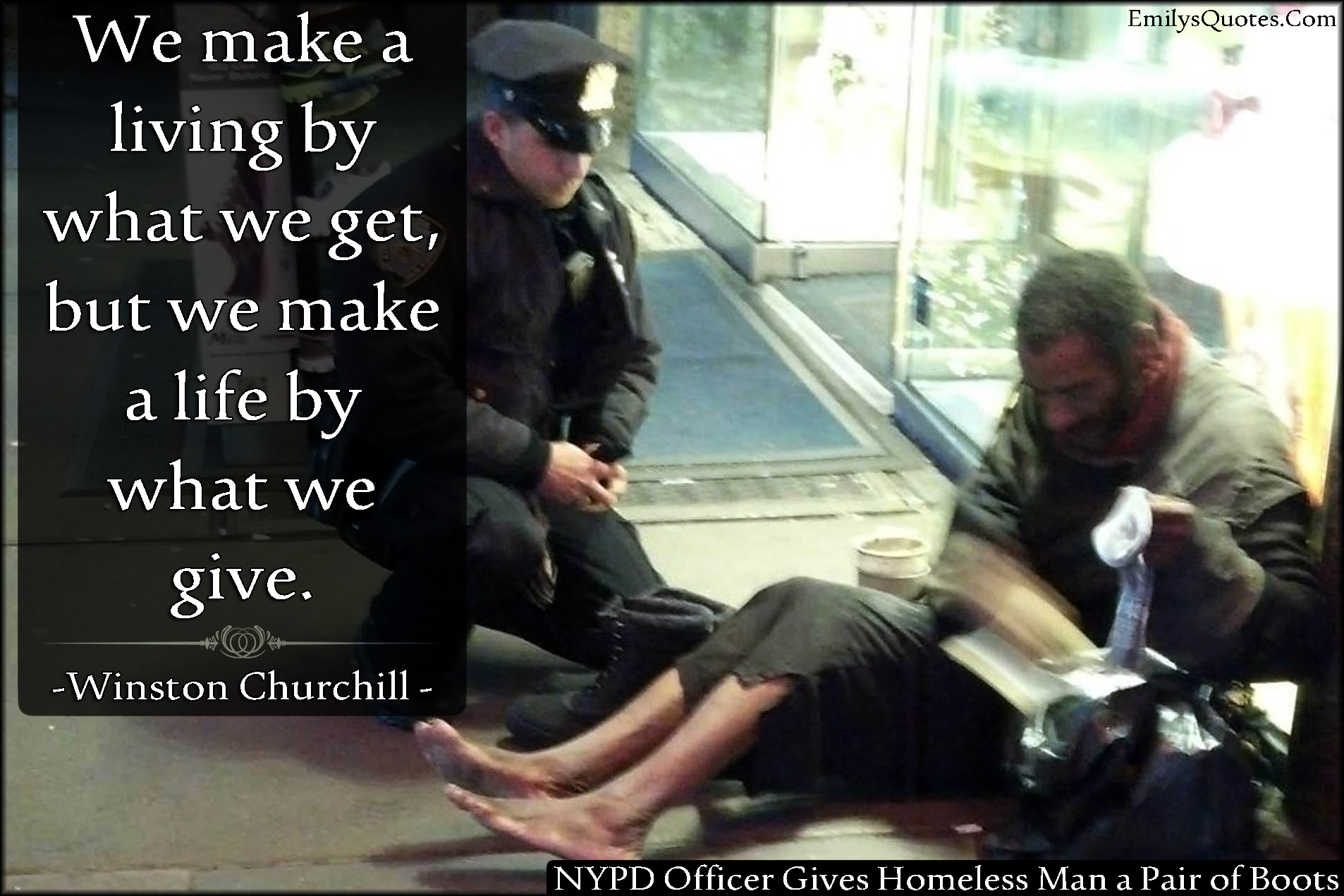 EmilysQuotes.Com - life, being a good person, inspirational, amazing, great, give, get, Winston Churchill