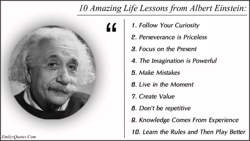 EmilysQuotes.Com - life, lessons, advice, wisdom, intelligent, Albert Einstein, inspirational