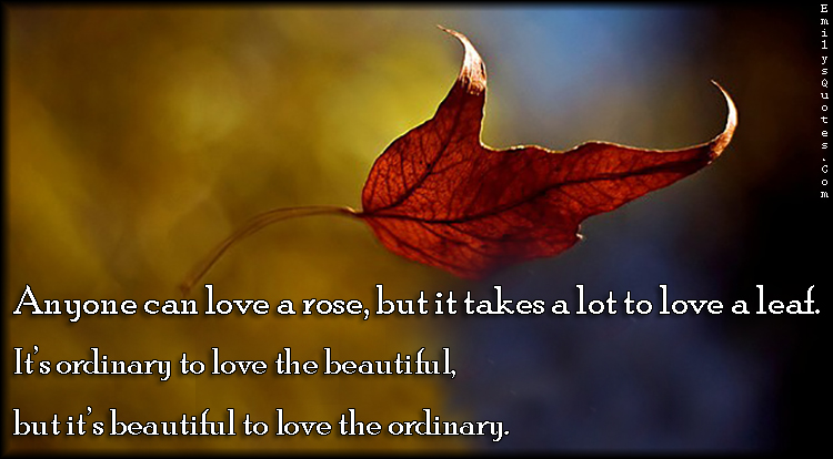 EmilysQuotes.Com - love, rose, leaf, ordinary, beautiful, inspirational, positive, unknown