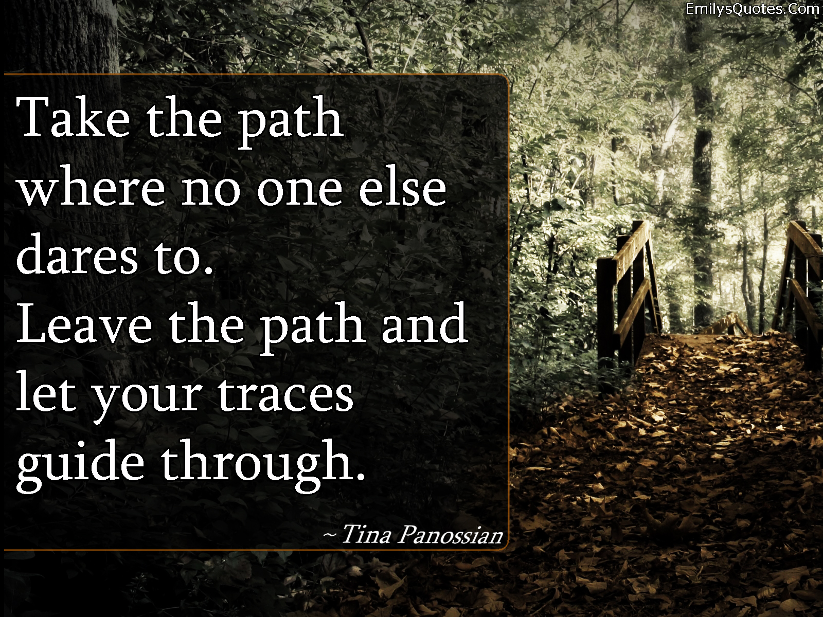 EmilysQuotes.Com - path, inspirational, dreams, life, wisdom, Tina Panossian, encouraging