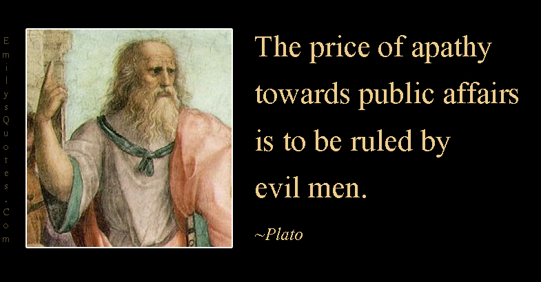 EmilysQuotes.Com - price, apathy, society, evil men, wisdom, intelligent, Plato