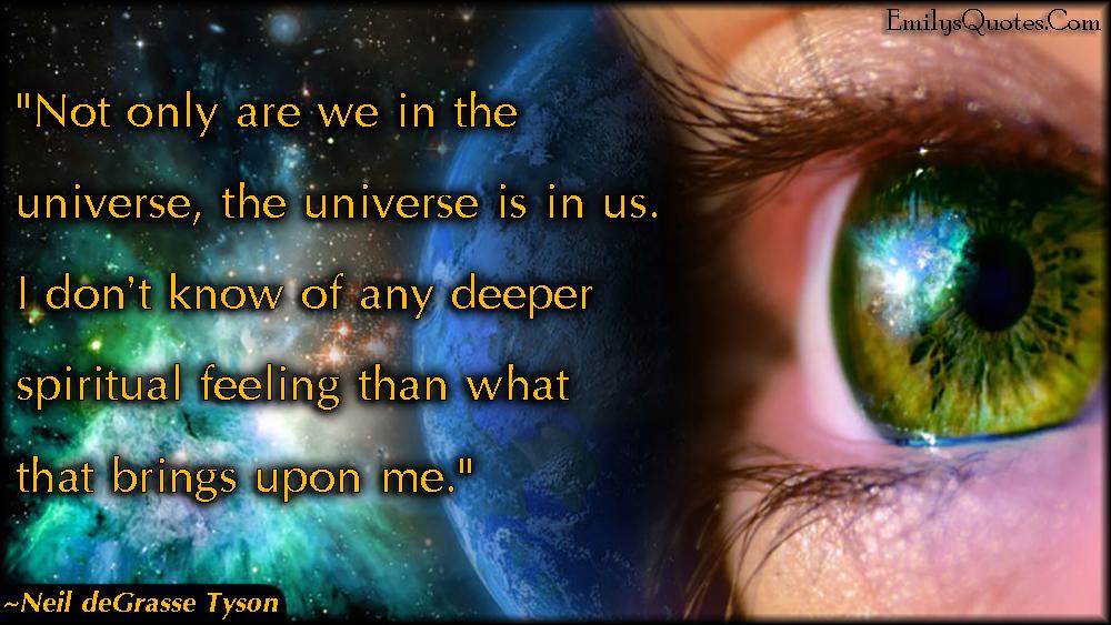 EmilysQuotes.Com - wisdom, intelligent, universe, spiritual feelings, experience, inspirational, life, amazing, great, Neil deGrasse Tyson