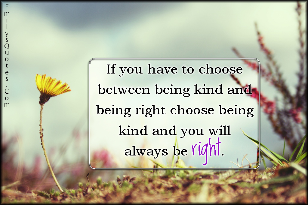EmilysQuotes.Com - choice, right, kind, amazing, great, advice, decision, inspirational, positive, unknown