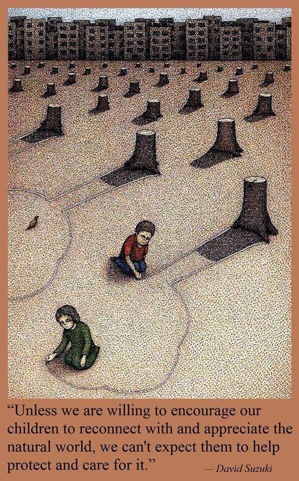 EmilysQuotes.Com - encourage, children, nature, care, protect, wisdom, David Suzuki