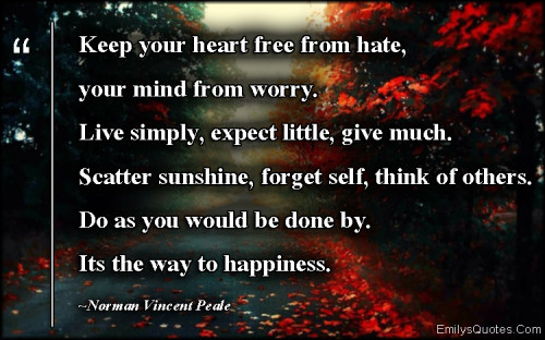 When Your Heart Is Happy Your Mind Is Free: Popular Inspirational Quotes At EmilysQuotes