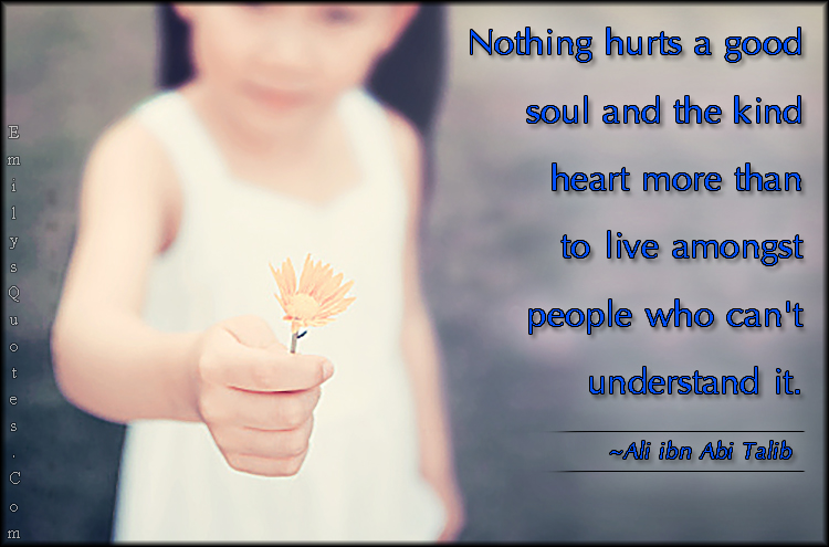EmilysQuotes.Com - hurt, pain, good soul, kind heart, people, understanding, Ali ibn Abi Talib